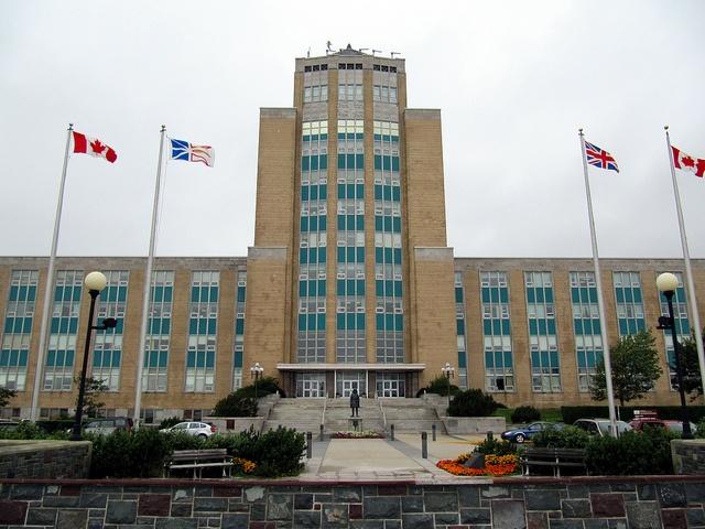 Confederation Building, St. John's, Newfoundland, Canada.