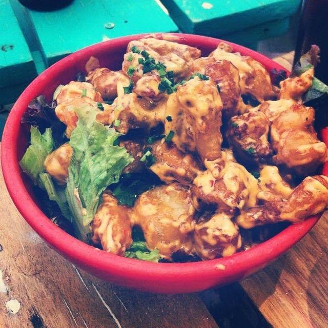 #canibalroyal #shrimp #salad #mexico #mexicanfood #playadelcarmen #rivieramaya #delicous