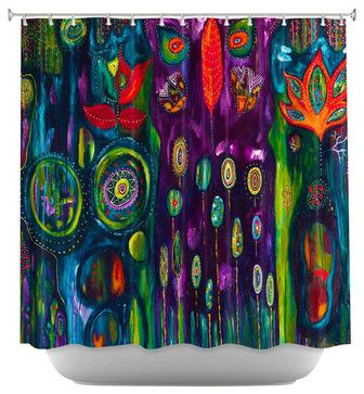 The Believers Garden Shower Curtain - contemporary - Shower Curtains - DiaNoche Designs