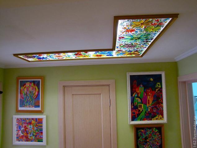 Мастер-класс: витраж-светильник «Цветочное настроение» - Ярмарка Мастеров - ручная работа, handmade