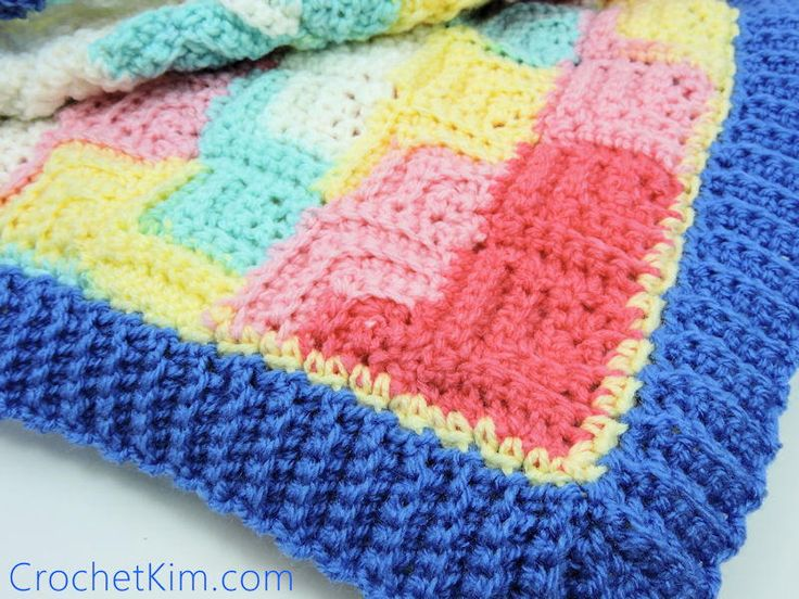 Patchwork Baby Blanket - love the texture on this one