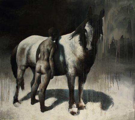 Visual artist Samuli Heimonen MEMORY OF THE PATH. Acrylic and oil on canvas. 2011