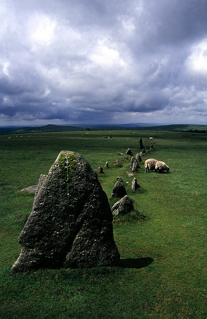 Merrivale Alignment, Dartmoor, England  This Alignment is a ley line that is said to follow the earth's meridians or energy lines. Its a very beautiful and peaceful place.