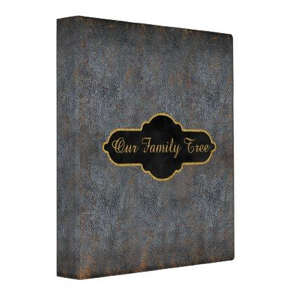 #rustic - #Family Tree Genealogy Rustic Antique Book Leather 3 Ring Binder