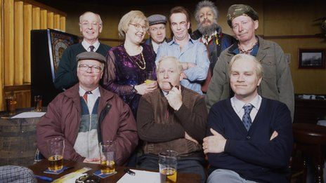 "This is pretty much the entire recurring cast of Still Game (Scottish Comedy).  A show I love love love!  It's crazy, it's ""dafty""... has me in stitches."