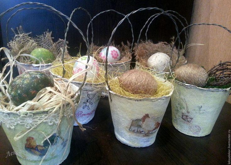 """Купить Подарок на Пасху. Композиция """"Ведерко с яйцом"""" - белый, Пасха, пасхальный подарок, подарок на Пасху"""