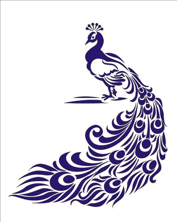 Stencil, Peacock bird image is approx. 7 x 8.5 inches for signs crafts wall linen burlap decoration
