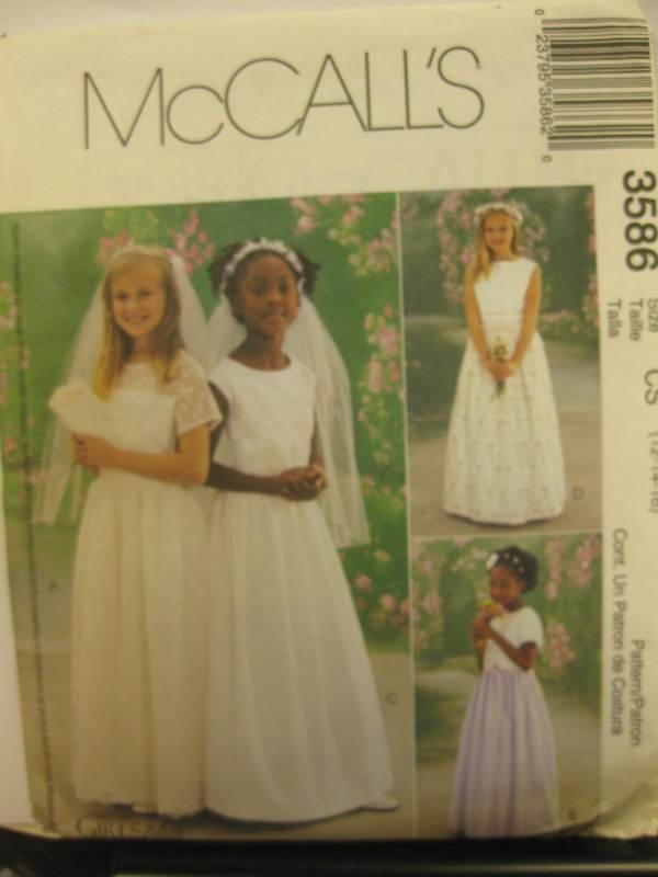Details About Mccalls Pattern Girls First Communion Dress