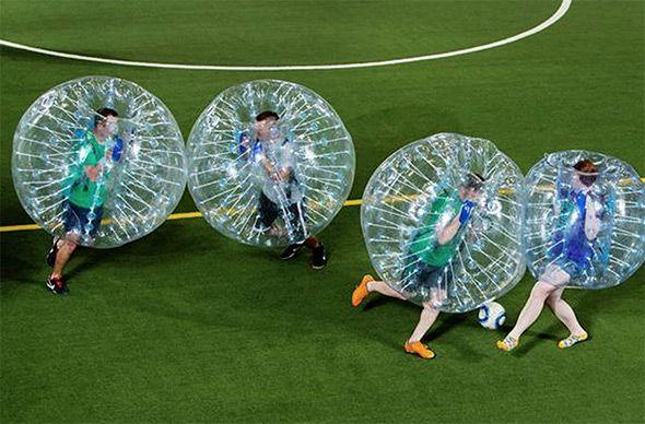 Bubble soccer. Let the hilarity ensue.