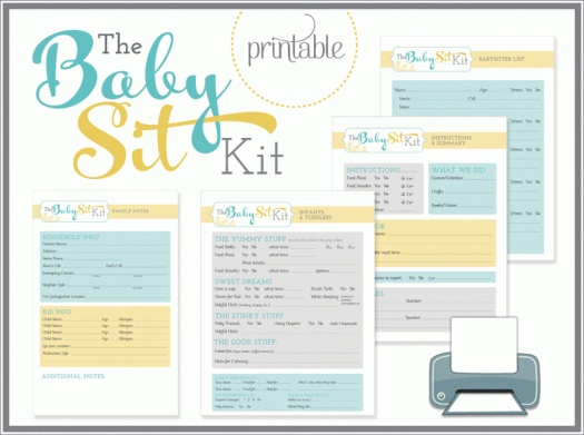 Baby Sit Kit- I can use these ideas to personalize my own.