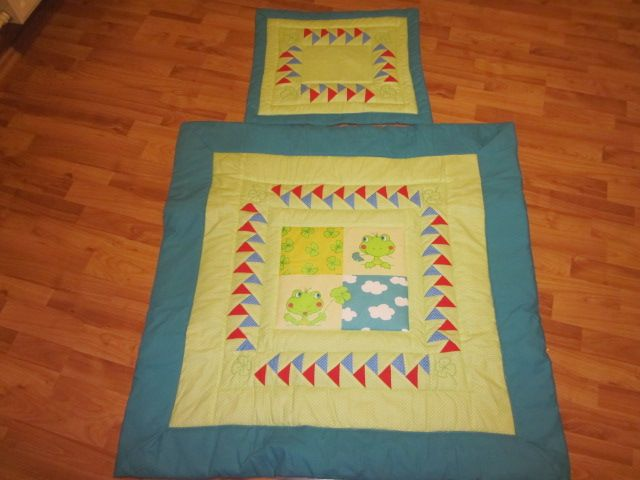 dětská deka- žabičky