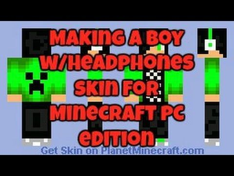 Making a Boy With Headphones Skin For Minecraft PC Edition