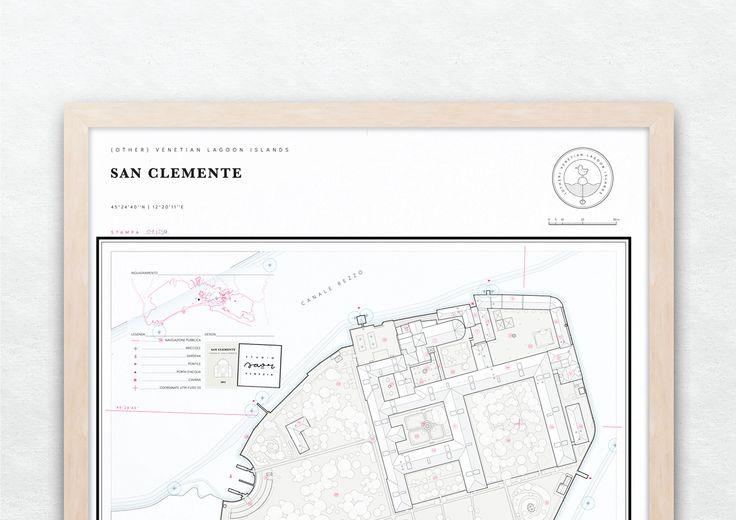 San Clemente print by Studio Saòr  #artprint #map #architecture #cartography