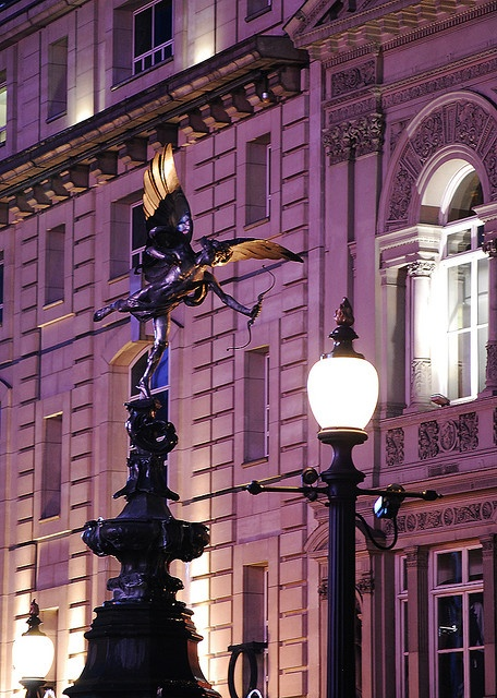 Here is Aneros (not Eros) looking over Piccadilly Circus, London at Night.