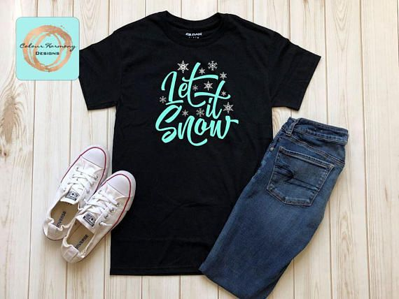 Let it Snow winter Christmas Holiday shirt https://www.etsy.com/listing/551772968/let-it-snow-christmas-holiday-shirt