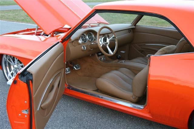 Interiors Shannon Camaro Custom Leather Interior