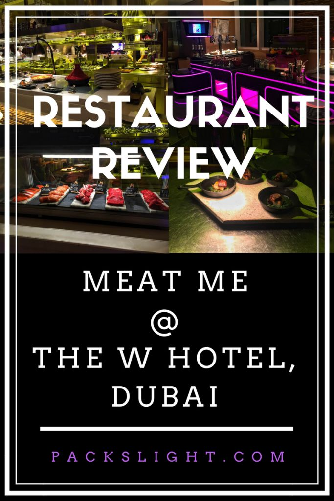 Review of Meat Me Monday at the W Hotel Dubai in Al Habtoor City!