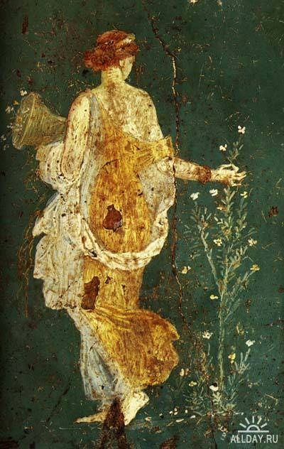 Primavera di Stabiae-Century 1 d.C DIANA Wall Painting From Stabiae, Museo Archeologico Nazional, Naples