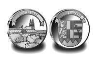 """Silbermünze Kloster Banz  Das 2. Motiv der """"Sonderedition Oberfranken"""" zeigt  Kloster Banz. Das ehemalige Benediktinerkloster, das seit 1978 zum Gebiet der Stadt Bad Staffelstein nördlich von Bamberg gehört, zählt zum Ensemble des Gottesgartens im Obermainland."""