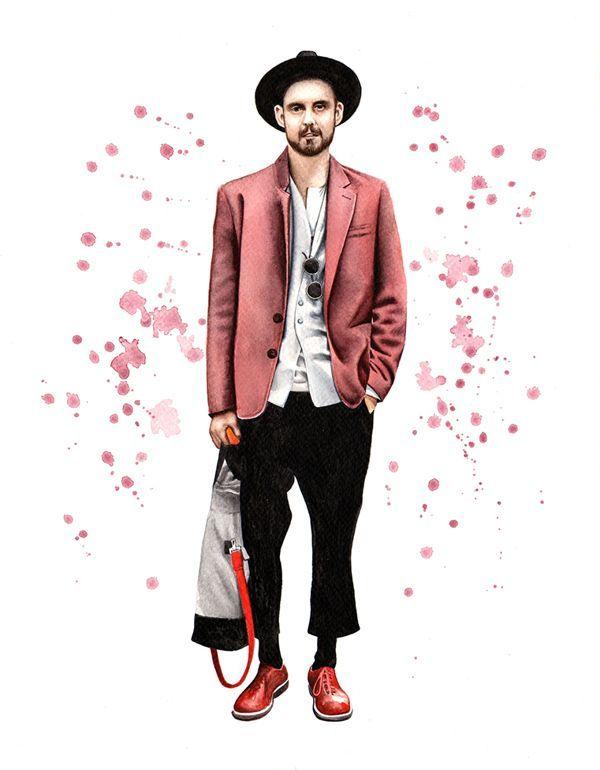 Street Style Fashion Illustration 2014 By Davide Morettini Via Behance T Shirts For Men