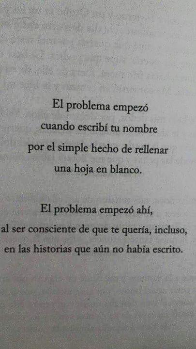 〽️ El problema empezó cuando escribí tu nombre...