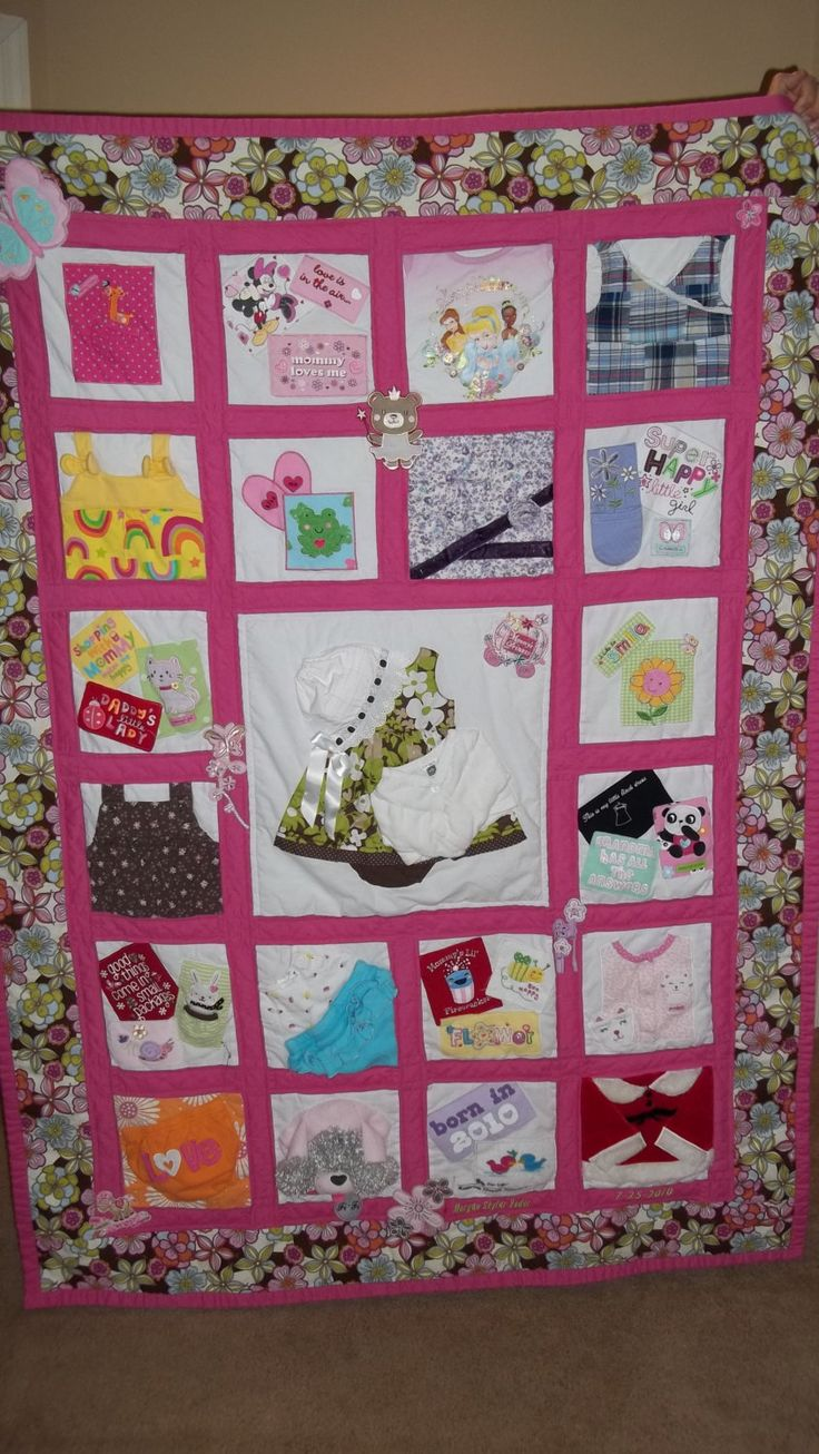 Top 25 ideas about Baby Memory Quilt on Pinterest Baby clothes quilt, Baby clothes blanket and ...