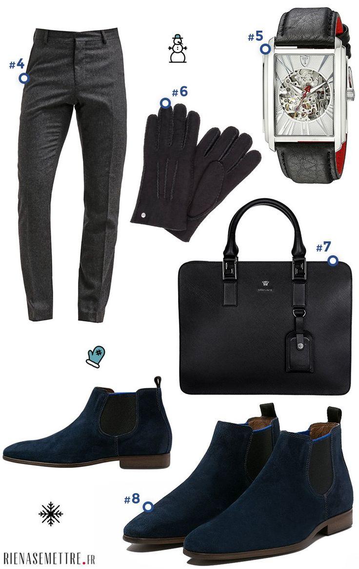 Look pour Homme spécial Business - Sacoche porte document cravate, chaussures de ville homme - Mode 2016