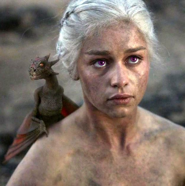 """Daenerys Targaryen would have purple eyes. 