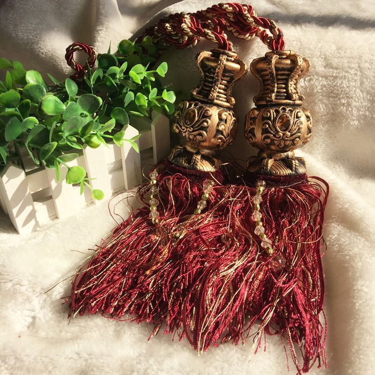 Free shipping-Home decor Classic Curtain Accessories Curtain tiebacks tassels hanging balls for curtains buckle curtain strap