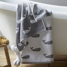 Whale Jacquard Towels Definitely love these.  Works for girls and boys.