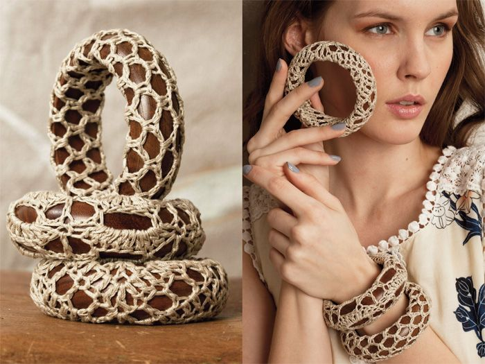 Crochet bangles from Vogue magazine