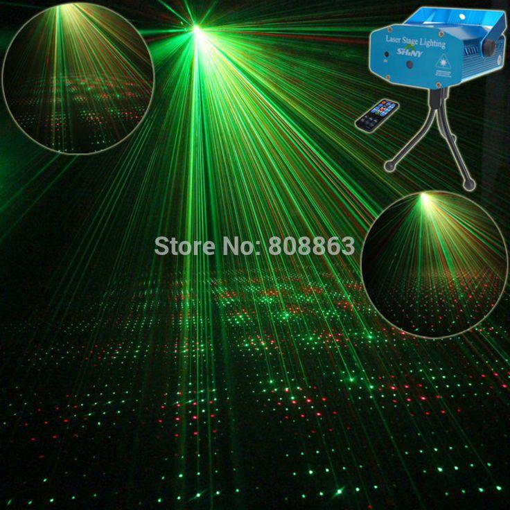Mini R & G Remote Penuh Bintang Sky Pola Proyektor Laser Club Bar toko Tari DJ Tahap Disco Party Xmas pencahayaan Cahaya Tripod R1