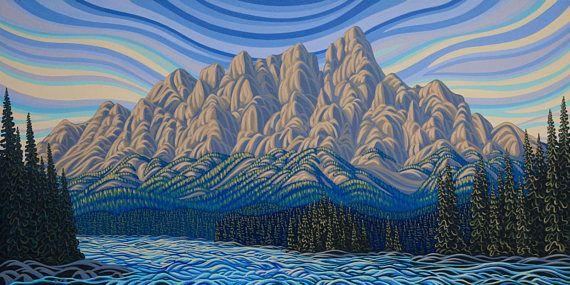 Summer Morning Castle Mountain 36X72 Original