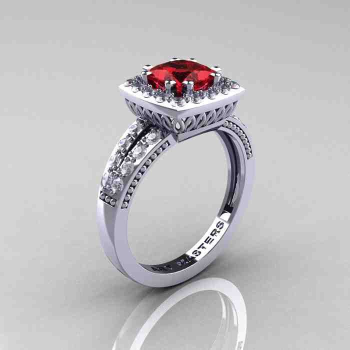 40 best ruby engagement rings images on Pinterest Ruby