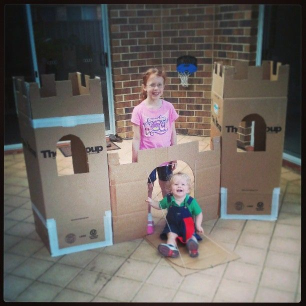 how to make a castle with kids