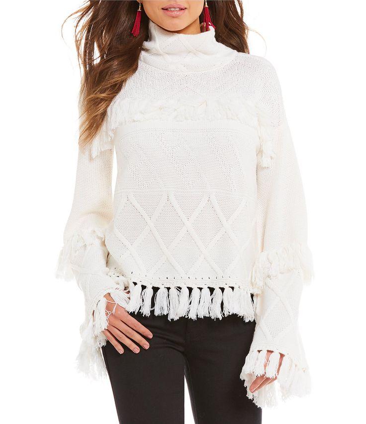 Gianni Bini Jessica Sweater with Fringe #Dillards