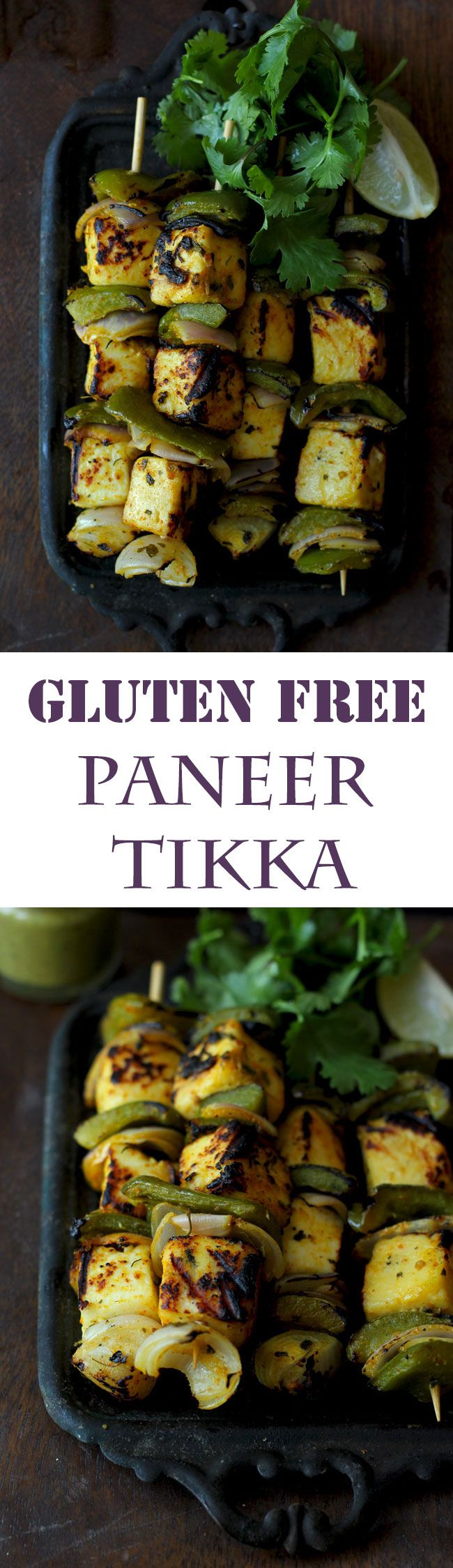 Paneer Tikka is the best Indian style appetizer for the BBQ party. And the good news is paneer tikka is gluten-free too. funfoodfrolic.com #indianfood #glutenfree #bbq #paneer