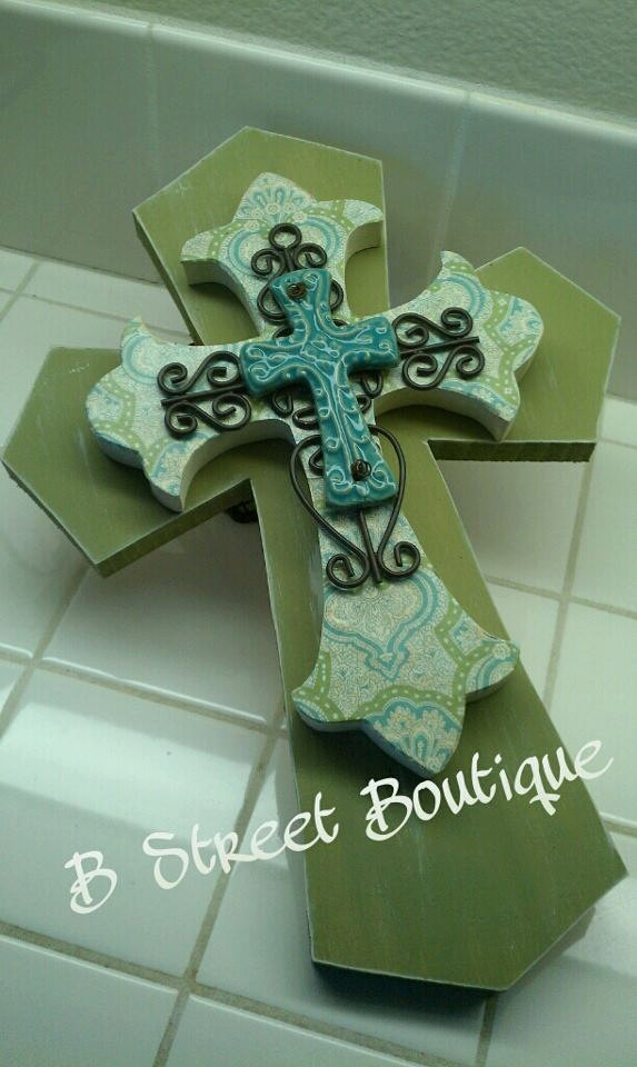 Vintage Look Wooden Wall Cross. $28.00, via Etsy.