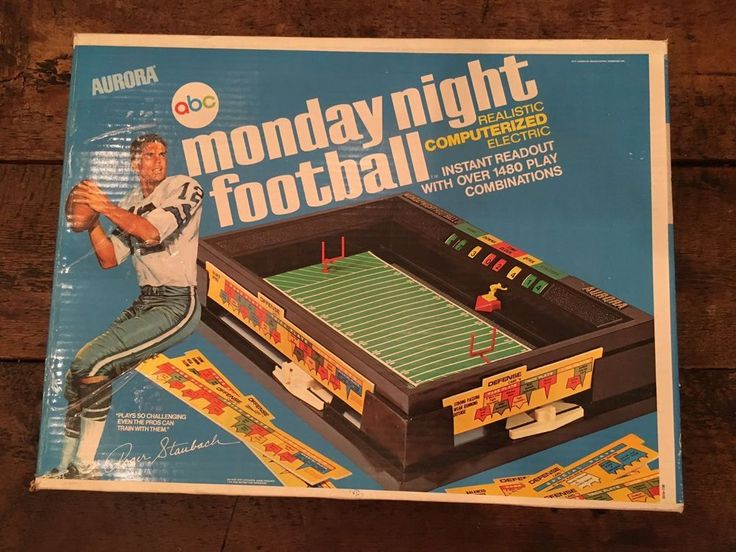 Vintage Football Game 1970's Aurora ABC Monday Night Football IB Roger Staubach #Aurora