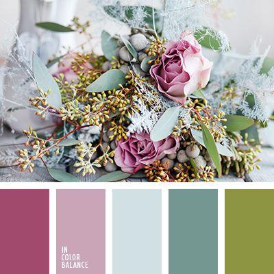 """""""пыльный"""" розовый, зеленый, лиловый цвет, нежные цвета для свадьбы, оливково-зеленый, оттенки бирюзового, оттенки розового, светло-бирюзовый, сочный зеленый, тёмно-бирюзовый, темно-лиловый, темно-салатовый, цвет пыльной розы, цвет яблока."""