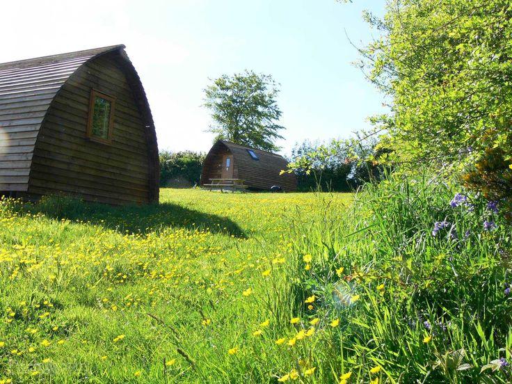 Cosy accommodation on organic working farm, Penbugle Farm.