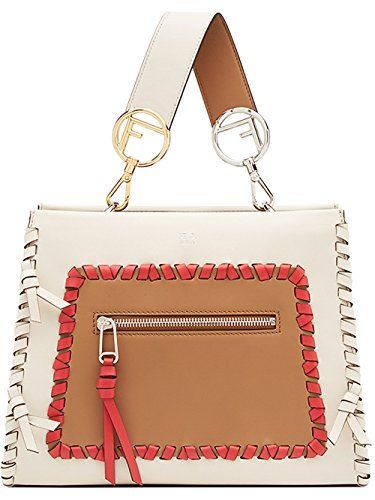 4c31e31c0f2f Fendi Women s 8Bh344a316f12g7 White Leather Handbag Fendi https   www.amazon .co