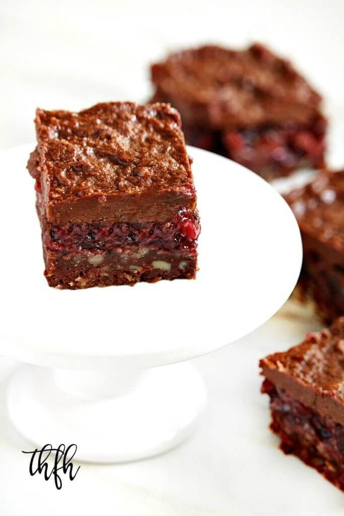 Gluten-Free Vegan No-Bake Black Forest Bars...a healthy recipe that's raw, vegan, gluten-free, dairy-free, lectin-free, egg-free, paleo and has no refined sugar | The Healthy Family and Home