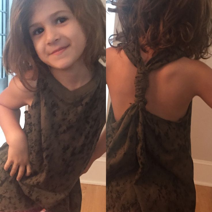 Cut out T-Back Tank with big brother's old shirt