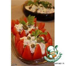 Помидоры, фаршированные тунцом и каперсами - кулинарный рецепт