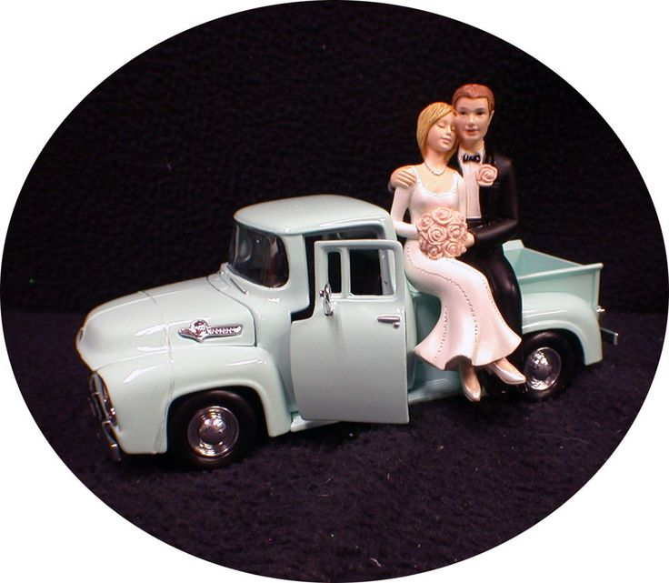 1955 Classic Ford Pickup Truck AUTO MECHANIC Bride Groom top Wedding Cake topper #yourcaketopper