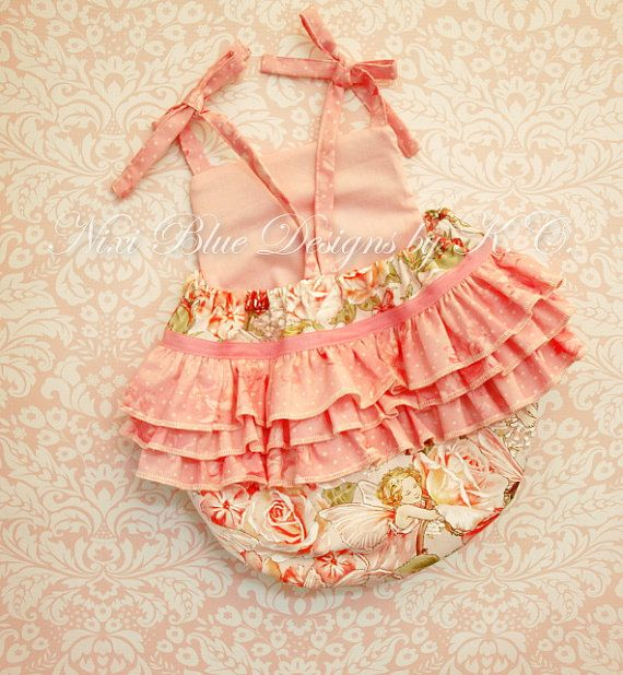 Baby Ruffle romper Ruffle sunsuit Baby girl Fairy romper First birthday outfit Newborn girl take home 100% cotton NB to 24M Isabella romper