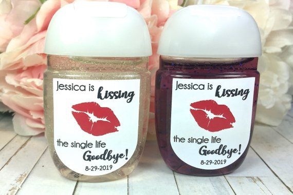 Kiss The Miss Goodbye Bachelorette Party Favor Labels Bridal