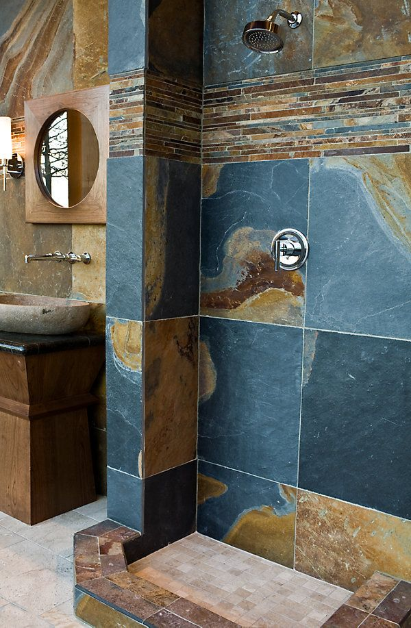 25 Best Ideas About Slate Tile Bathrooms On Pinterest