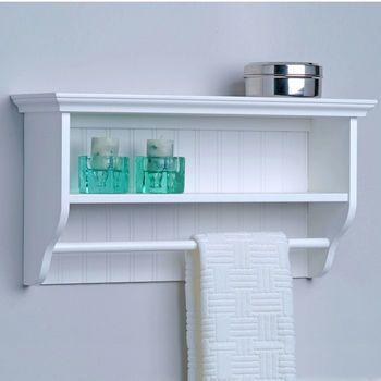 Bathroom Storage Decorative Wall Shelf With Towel Bar By Taymor Kitchensource